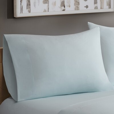 Avon Forever Percale Pillowcases Size: Standard, Color: Seafoam