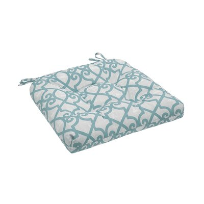 Barrows Printed Fretwork 3M Scotchgard Outdoor Cushion Fabric: Aqua