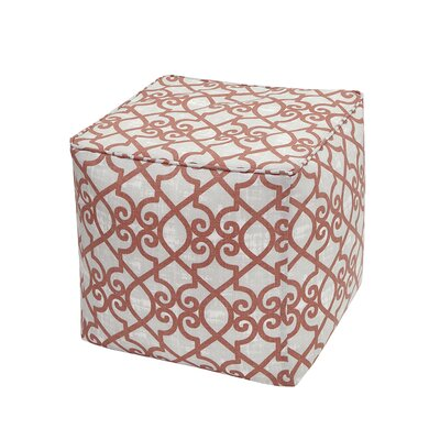 Barrows Ottoman Fabric: Coral