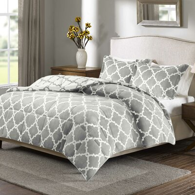 Stroupe Comforter Set Color: Gray, Size: King