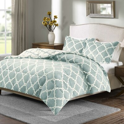 Stroupe Blanket Comforter Set Size: King, Color: Aqua