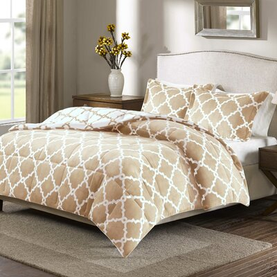 Stroupe Comforter Set Size: Full/Queen, Color: Tan