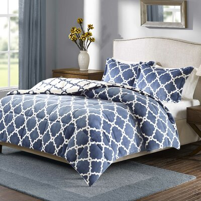 Stroupe Blanket Comforter Set Size: Twin, Color: Indigo