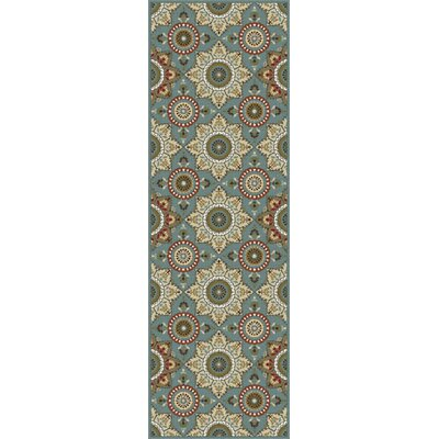 Dolan Blue/Brown Area Rug Rug Size: Runner 23 x 11