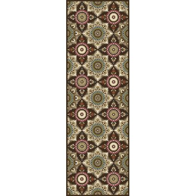 Dolan Brown/Beige Area Rug Rug Size: Runner 23 x 11