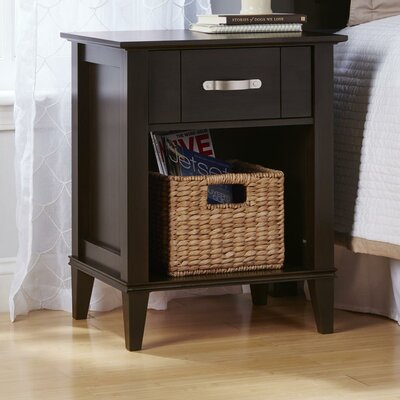 Myles 1 Drawer Nightstand Finish: Espresso