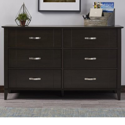 Myles 6 Drawer Dresser Color: Espresso