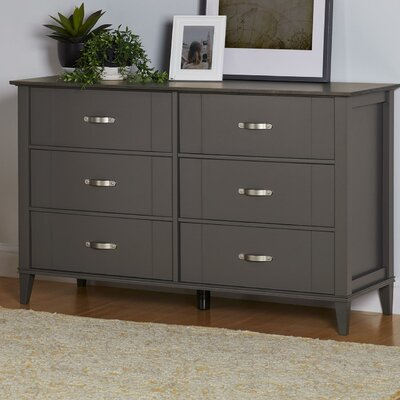 Myles 6 Drawer Dresser Color: Dark Gray