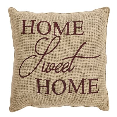 Powers Home Sweet Home 100% Cotton Throw Pillow