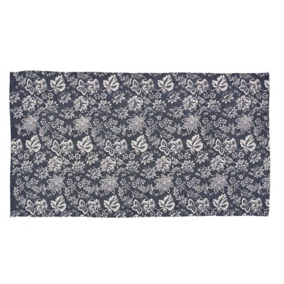 Messina Navy Area Rug Rug Size: 5 x 8