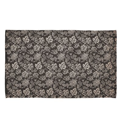 Messina Charcoal Area Rug Rug Size: 6' x 9'