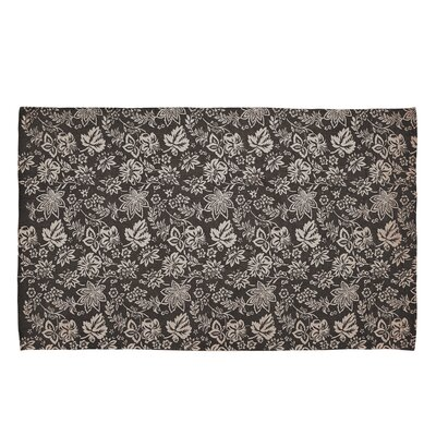 Messina Charcoal Area Rug Rug Size: 8 x 11