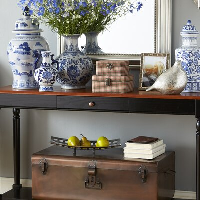 Carlisle Console Table with Bottom Shelf