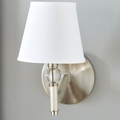 Pierron 1-Light Wall Sconce Shade Color: Classic White