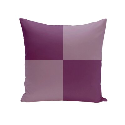 Drennen Geometric Throw Pillow Size: 18 H x 18 W, Color: Sugarplum