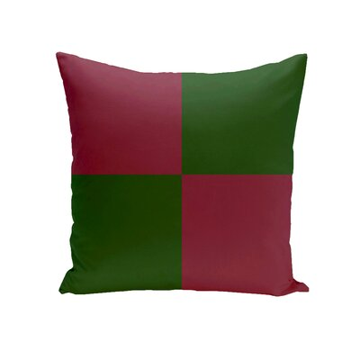 Drennen Geometric Throw Pillow Size: 16 H x 16 W, Color: Evergreen