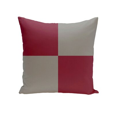 Drennen Geometric Throw Pillow Color: Silver, Size: 20 H x 20 W