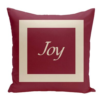 Drennen Joy Throw Pillow Size: 16 H x 16 W, Color: Cranberry / Shearling
