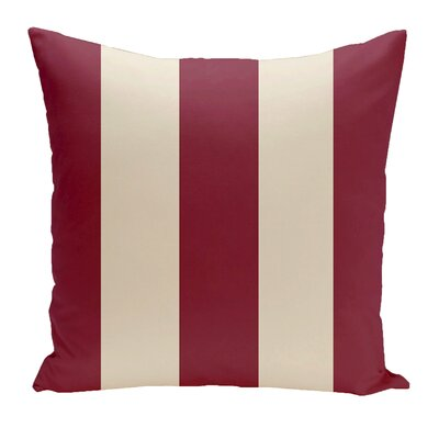 Drennen Striped Throw Pillow Size: 16 H x 16 W, Color: Cranberry / Shearling