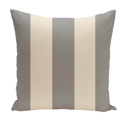 Drennen Striped Throw Pillow Size: 16 H x 16 W, Color: Silver / Shearling