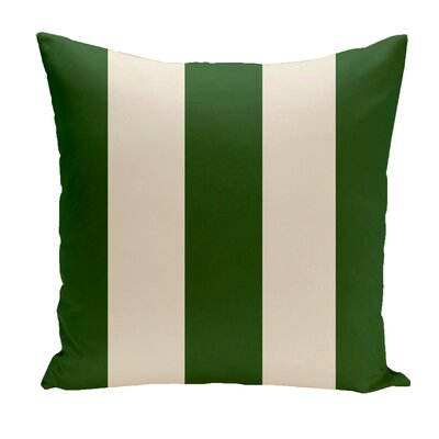 Drennen Striped Throw Pillow Size: 18 H x 18 W, Color: Evergreen / Shearling