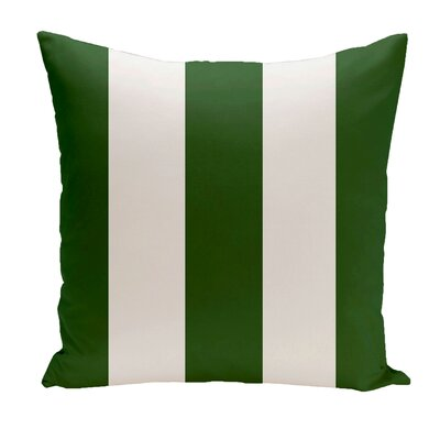 Drennen Striped Throw Pillow Size: 18 H x 18 W, Color: Evergreen / White