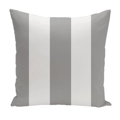 Drennen Striped Throw Pillow Size: 18 H x 18 W, Color: Silver / White