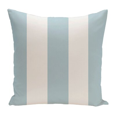 Drennen Striped Throw Pillow Size: 18 H x 18 W, Color: Icicle / White