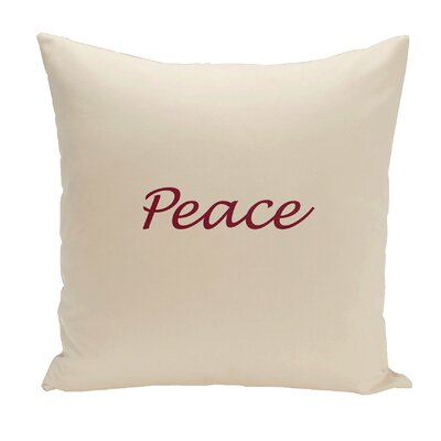 Drennen Peace Throw Pillow Size: 18 H x 18 W