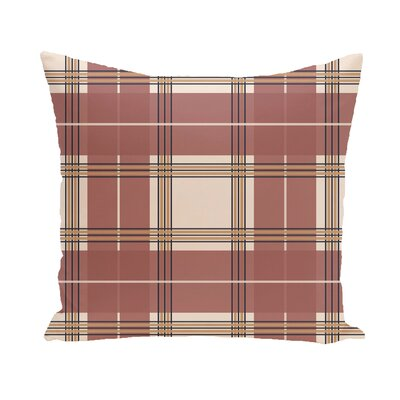 Fallston Geometric Throw Pillow Size: 18 H x 18 W, Color: Taupe / Rust