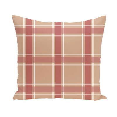 Bookman Geometric Throw Pillow Size: 18 H x 18 W, Color: Taupe / Coral