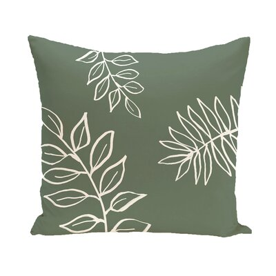 Bookman Throw Pillow Size: 18 H x 18 W, Color: Green / Off White