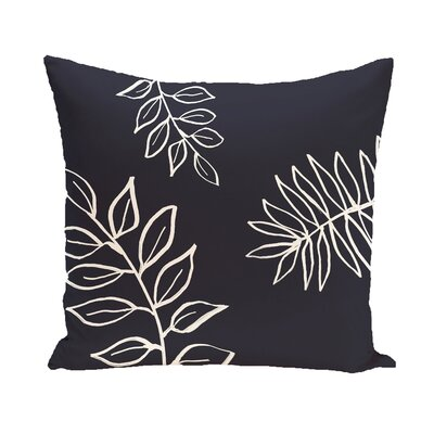 Bookman Throw Pillow Color: Navy Blue / Off White, Size: 18 H x 18 W