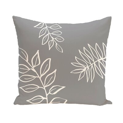 Bookman Throw Pillow Size: 20 H x 20 W, Color: Gray / Off White