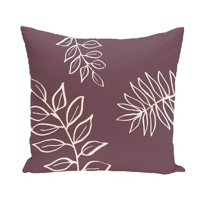 Bookman Throw Pillow Size: 18 H x 18 W, Color: Purple / Off White