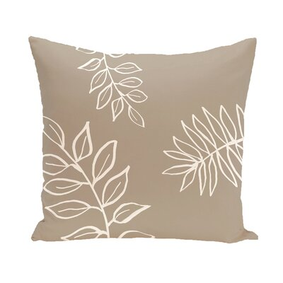 Bookman Throw Pillow Size: 18 H x 18 W, Color: Taupe / Off White