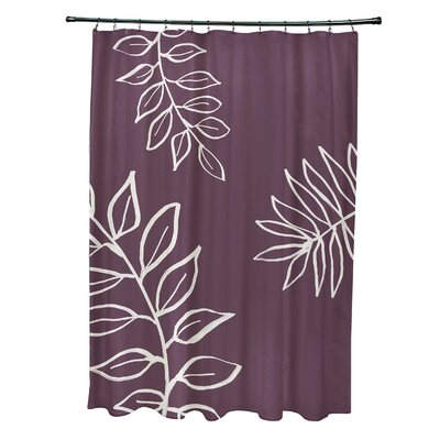 Bookman Shower Curtain Color: Purple/Ivory
