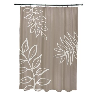 Bookman Shower Curtain Color: Beige/Ivory