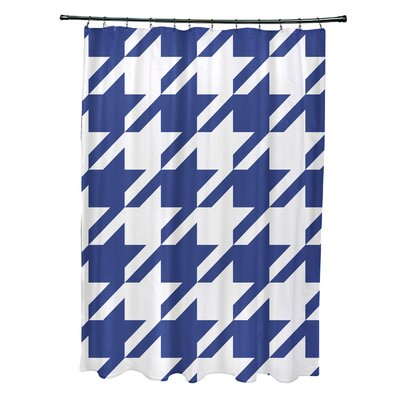 Fallston Geometric Shower Curtain Color: Royal Blue