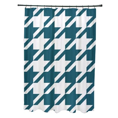 Fallston Geometric Shower Curtain Color: Teal