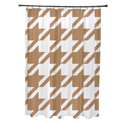 Fallston Geometric Shower Curtain Color: Brown