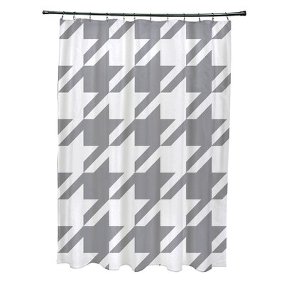 Fallston Geometric Shower Curtain Color: Gray