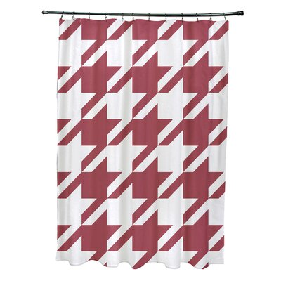 Fallston Geometric Shower Curtain Color: Rust