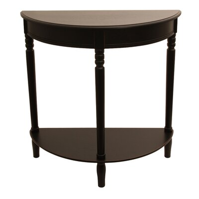 Wedgewood Console Table Finish: Eased Edge Black