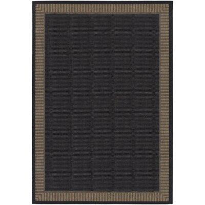 Westlund Black Wicker Stitch Indoor/Outdoor Rug Rug Size: 2 x 37