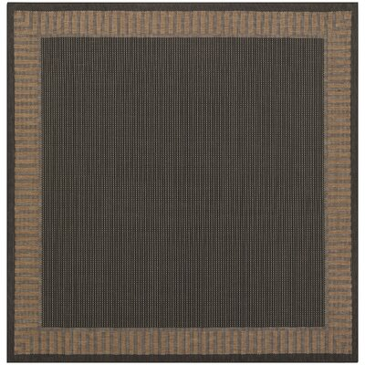 Westlund Black Wicker Stitch Indoor/Outdoor Rug Rug Size: Square 76