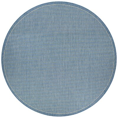 Adelmo Blue Indoor/Outdoor Area Rug Rug Size: Round 76