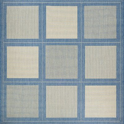 Westlund Blue Indoor/Outdoor Area Rug Rug Size: Square 86