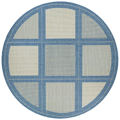 Westlund Blue Indoor/Outdoor Area Rug Rug Size: Round 76