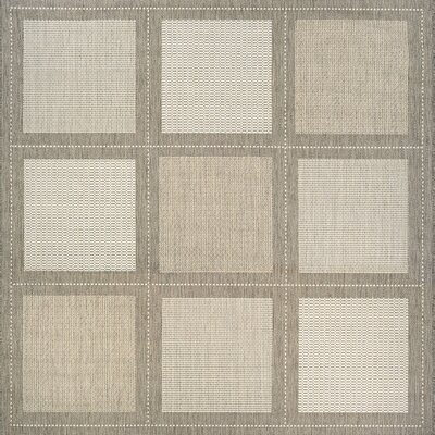 Westlund Beige Indoor/Outdoor Area Rug Rug Size: Square 7'6